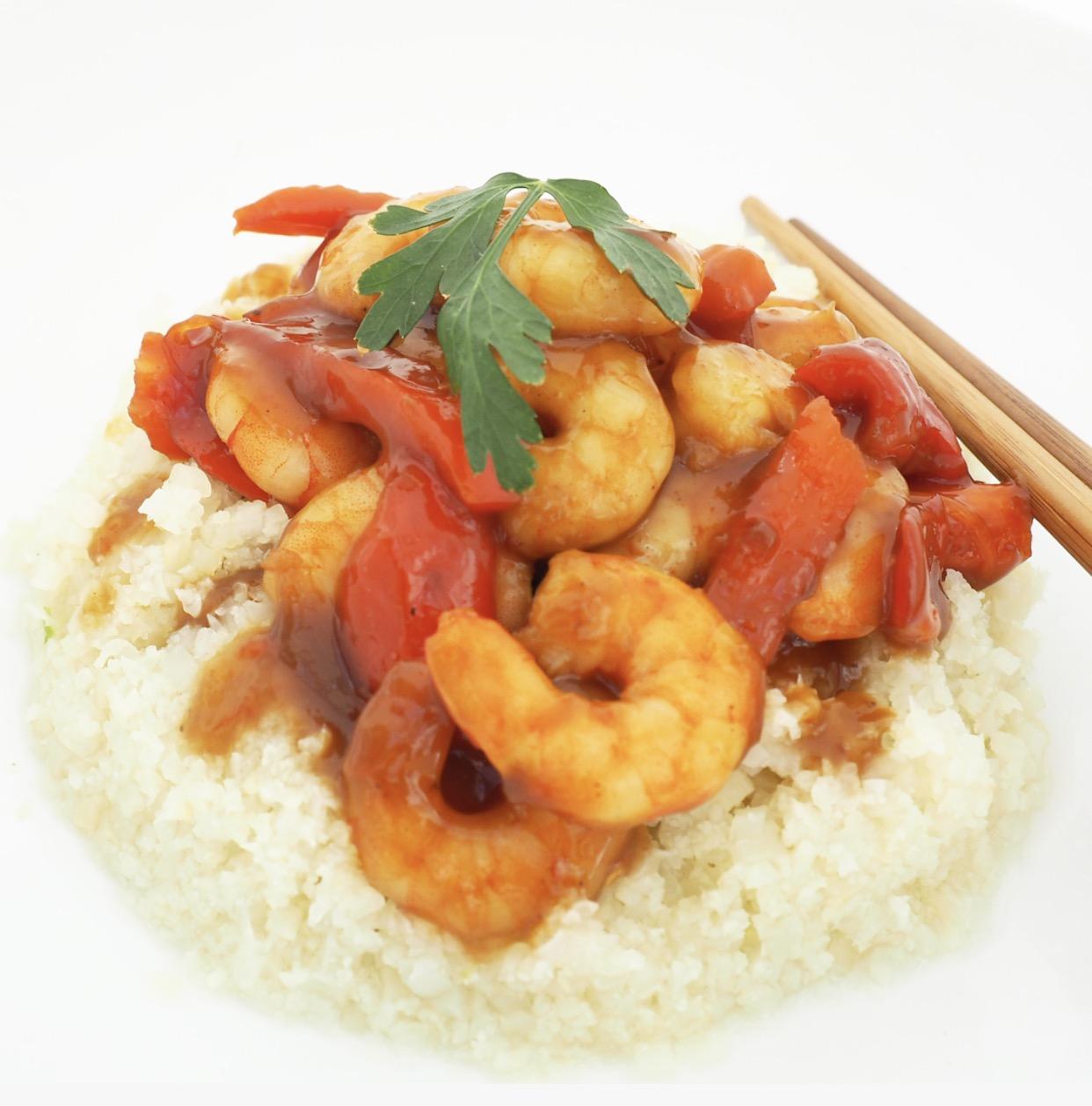 Prawn Teriyaki & Cauliflower Rice Recipe
