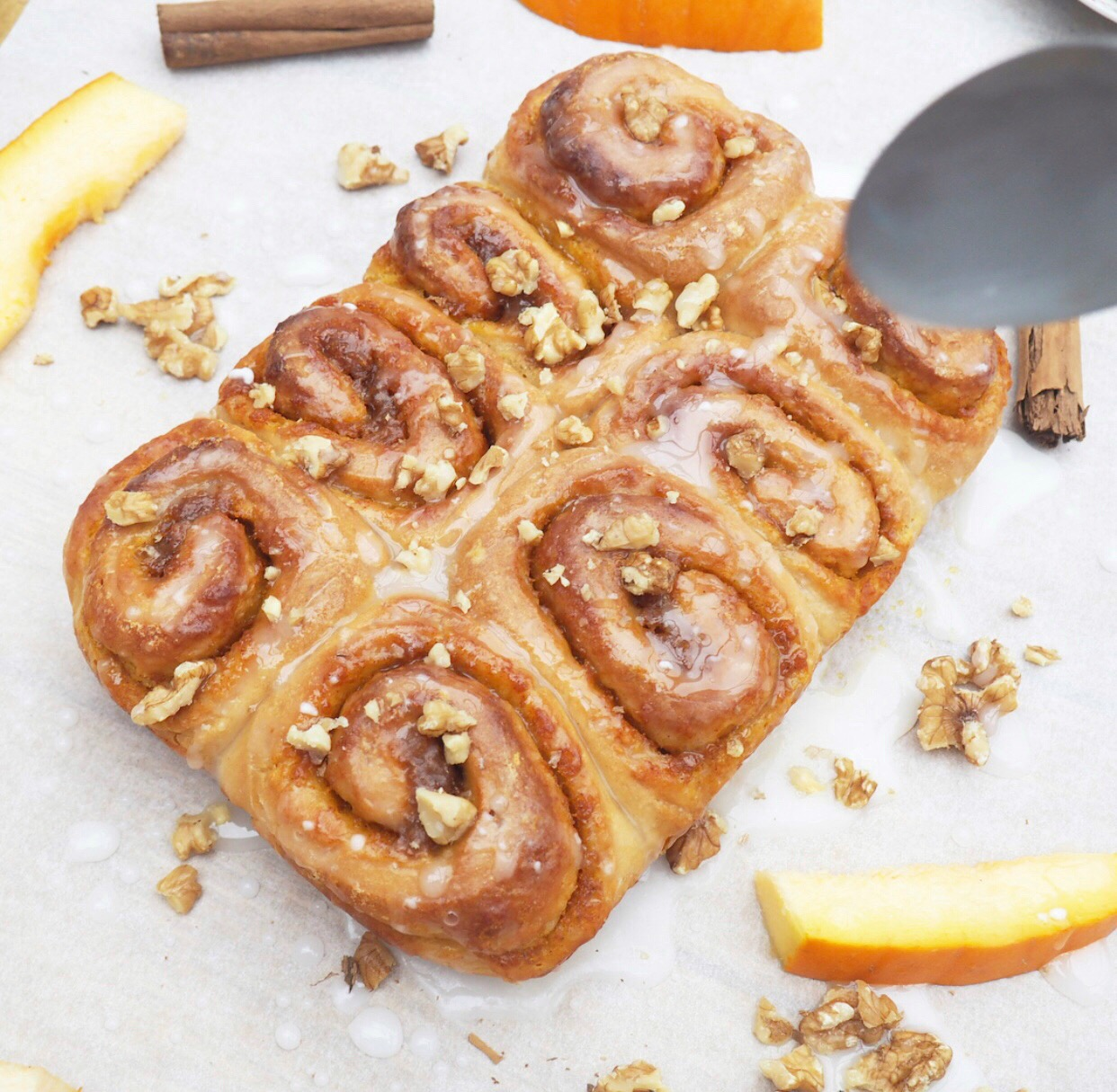 Pumpkin, Cinnamon & Walnut Rolls
