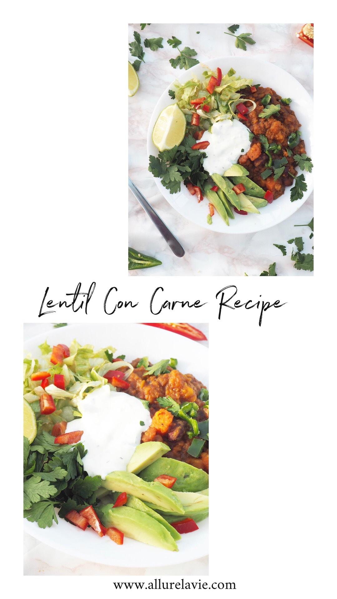 Lentil Con Carne Recipe